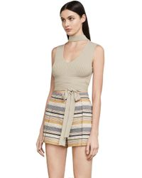 BCBGMAXAZRIA - Hana Mock-neck Top - Lyst