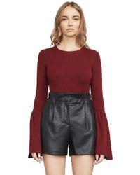 BCBGMAXAZRIA - Waverley Flared-sleeve Sweater - Lyst