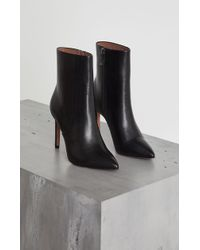 BCBGMAXAZRIA - Ava Leather Stiletto Bootie - Lyst