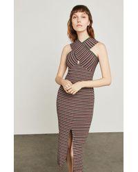 BCBGMAXAZRIA - Stripe Ribbed Pencil Skirt - Lyst