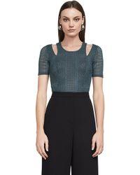 BCBGMAXAZRIA - Bcbg Gwenyth Cutout Lace Bodysuit - Lyst