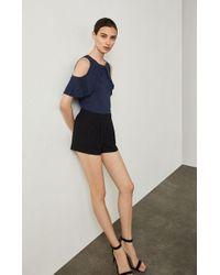 BCBGMAXAZRIA - Micah Pleated Shorts - Lyst