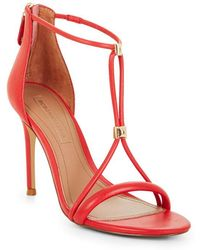 BCBGMAXAZRIA - Nixie Studded Leather Sandal - Lyst