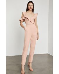 BCBGMAXAZRIA Bcbg One Shoulder Ruffle Jumpsuit