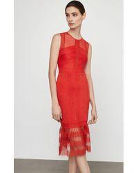 BCBGMAXAZRIA - Bcbg Sleeveless Lace Inset Sheath Dress - Lyst