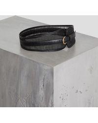 2f516cee84 BCBGMAXAZRIA - Bcbg Leather And Mesh Corset Belt - Lyst