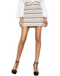 BCBGMAXAZRIA - Brittany Lace-up Mini Skirt - Lyst