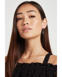 BCBGeneration - Pave Chain-drop Threader Earring - Lyst