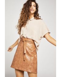 BCBGeneration - Faux-leather Mini Skirt - Lyst
