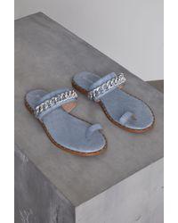 BCBGeneration - Zola Denim Flat Sandal - Lyst