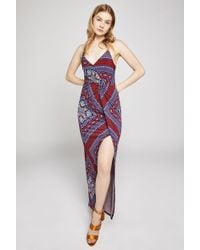 BCBGeneration - Batik Surplice Maxi Dress - Lyst