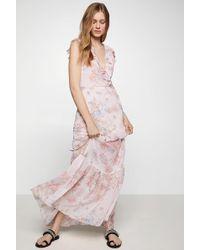 BCBGeneration - Watercolor Flower Maxi Dress - Lyst