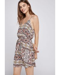 BCBGeneration - Tropical Front Tie Dress - Lyst