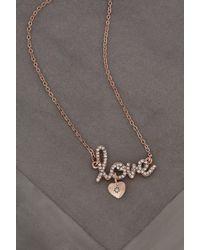 BCBGeneration - Love Pave Necklace - Lyst