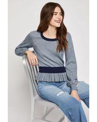 BCBGeneration - Marled Peplum Sweater - Lyst