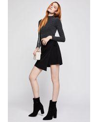 BCBGeneration - Asymmetrical Faux Wrap Skirt - Lyst