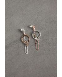 BCBGeneration Two Tone Link And Chain Earring