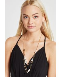 BCBGeneration - Faux-pearl Safety Pin Necklace - Lyst