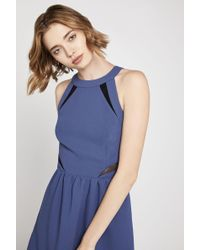 BCBGeneration - Sleeveless Fit-and-flare Halter Dress - Lyst