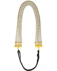 Dauphines of New York - The I Do Mini Headband - Crystal/Gold - Lyst