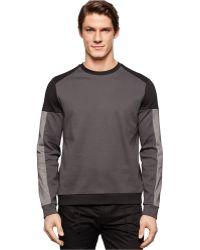 Calvin Klein Crew-Neck Lightweight Sweatshirt black - Lyst