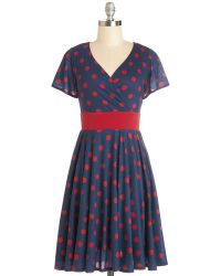 ModCloth Feeling Footloose Dress in Navy - Lyst