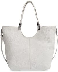 Elizabeth And James 'Cynnie' Large Grain Leather Convertible Shopper - Lyst