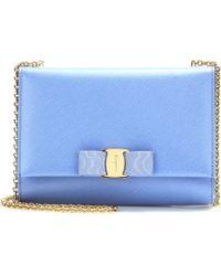 Ferragamo Small Leather Shoulder Bag - Lyst