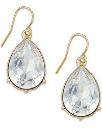 Lauren by Ralph Lauren Gold-tone Swarovski Crystal Teardrop Earrings - Lyst