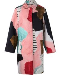 Philosophy - Mix Print Classic Coat - Lyst