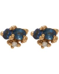 Ruth Tomlinson - Yellow Gold Sapphire Granule Stud Earrings - Lyst