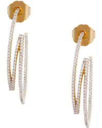 Rachel Zoe Glitz 12K Gold Plated Ribbon Drop Earrings silver - Lyst