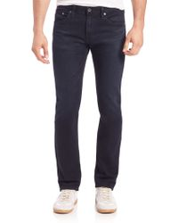 AG Adriano Goldschmied Slim-Straight Jeans blue - Lyst