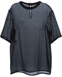 Emanuel Ungaro Polka Dot Sheer Top - Lyst