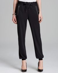 Adrianna Papell - Soft Trousers with Ribbed Cuffs - Lyst