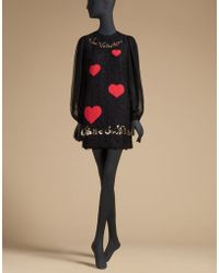 Dolce & Gabbana | St Valentine Lace Dress With Sequin Embroidery | Lyst