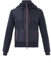Moncler Contrast Panel Hooded Sweatshirt - Lyst