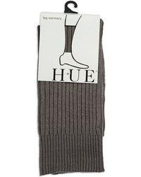 Hue Gray Ribbed Legwarmers - Lyst