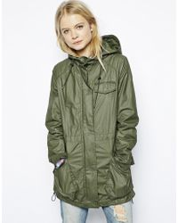 Asos Lightweight Rain Parka With Patch Pockets - Lyst