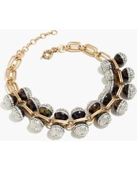 J.Crew | Tortoise And Pavé Crystal Necklace | Lyst