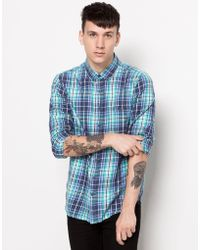 Pull&Bear Long Sleeve Check Shirt - Lyst