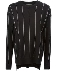 MICHAEL Michael Kors White Striped Sweater - Lyst