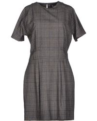 Aquascutum Short Dress gray - Lyst