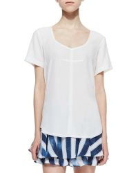 Nanette Lepore Ever After Voile Shortsleeve Top - Lyst
