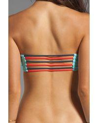 Basta Surf Tonga Reversible Bungee Bandeau Bikini Top in Blue - Lyst