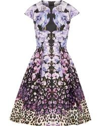 Temperley London Orchidea Printed Cotton And Silkblend Faille Dress - Lyst