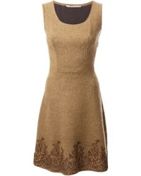 Ermanno Scervino Embroidered Flared Dress - Lyst