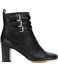 Tabitha Simmons | Buckled Leather Ankle Boots | Lyst