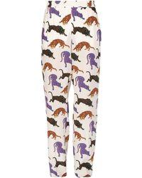 Stella McCartney   Cream Cicely Trousers   Lyst