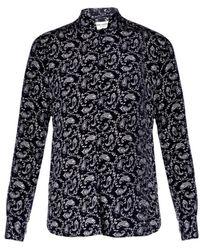 Saint Laurent Patterned Shirt - Lyst